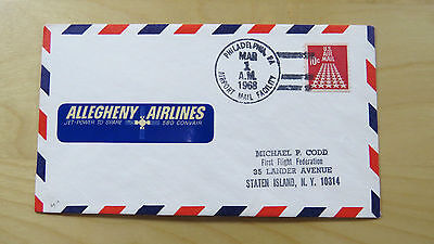 FFC USA First Flight Philadelphia Pennsylvania Albany NY Allegheny Airlines 1968