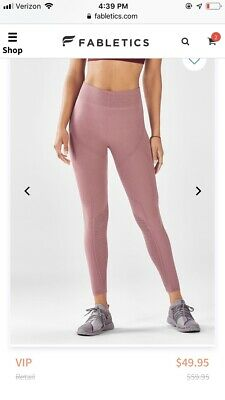 aebf3553b80d5d NWT FABLETICS HIGH Waisted Leggings Rose Romance (SIZE- 4-6 ...