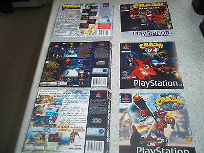 Playstation 1 PS1  Replacement Game Case Art Sleeves/Inlay.REPRODUCTION.