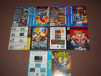 Sega Megadrive Replacement Game Box Art Sleeves/Inserts Only..REPRODUCTION..