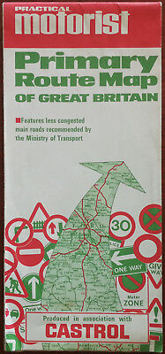Practical Motorist Primary Route map of Great Britain 1967