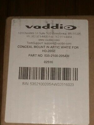 Vaddio 535-2100-205 HD-20SE Conceal Mount Arctic White PTZ Camera Factory Seal