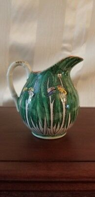 """19th Century Creamer - """"Cabbage Pattern"""" Emerald Green - Qing Dynasty 4 1/4"""" H"""