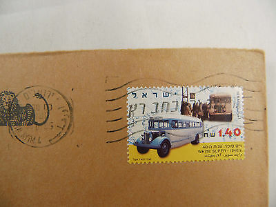 cover Israel Bus White super 1940's Lion Löwe Postbank 1995
