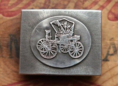 Vintage Sterling Silver Hand Made Carriage Western Belt Buckle