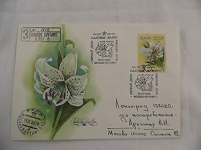 Maximum cvr Russia Russland CCCP White tiger flower lily Blume 1989