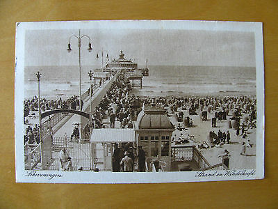Pc Netherlands Holland Pays Bas Perfin pair ''S'' Beach Pier Scheveningen 1927