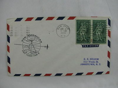 FFC first Flight USA America PANAM FAM 5 San Juan Rai Timore 1958