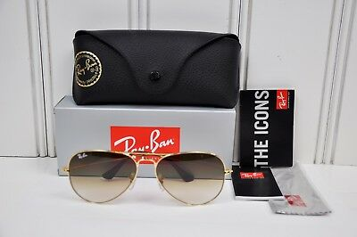 c543bbcab7 Ray Ban Aviator RB3025 001 51 Arista Gold Frame Brown Gradient Lens 58mm