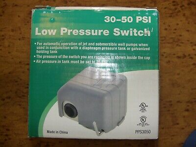 74621 Well Pump Pressure Switch 30 - 50 PSI Jet & Submersible New 110 or 220