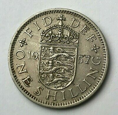 Dated : 1957 - One Shilling - Coin - Queen Elizabeth II - Great Britain