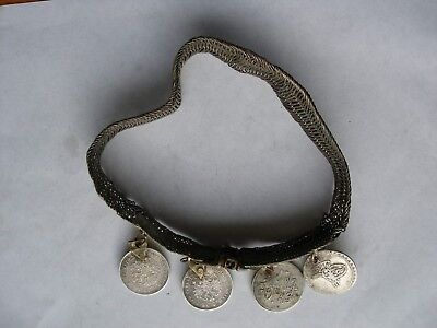 Antique. Handmade Silver Necklace. Greek and Balkans. Decorate with