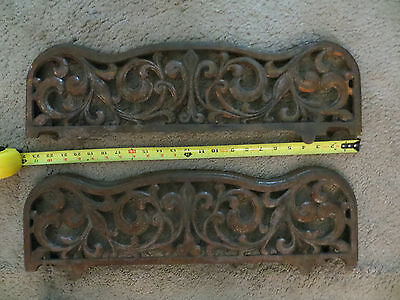 Antique Cast Metal Stove Part Ornate Old Vintage Salvage