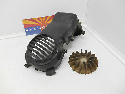 1985 Honda Elite 80 (CH80) Scooter OEM Used Cooling Fan & Shroud / Cover.(C2)