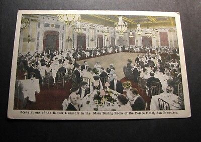 Old Postcards  Palace Hotel  Main Dining Room  PJ4