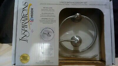 Moen Inspirations 3 pc bath accessory set Brushed Nickel
