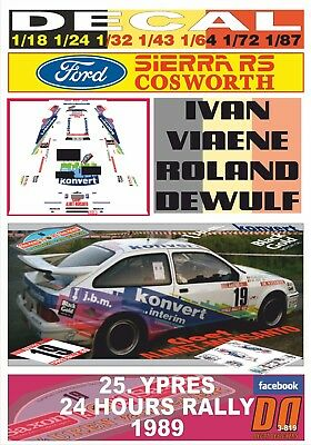 DECAL FORD SIERRA RS COSWORTH I.VIAENE YPRES 24 HOURS R. 1989 DnF (03)