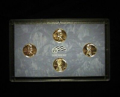 4 Proof Lincoln Memorial Cents:  One Of Each 1960-1961-1962-&1963