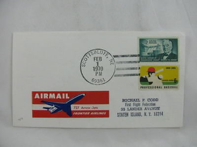 FFC first Flight USA America 727 Arrow-Jets Baseball Scottbluff Denver 1970