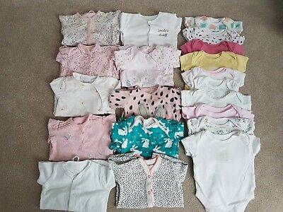 Girls 3-6 months bundle 10 baby grows and 10 vests next etc
