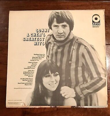 "SONNY AND CHER'S ""GREATEST HITS""  2 Record Set LP 1967"