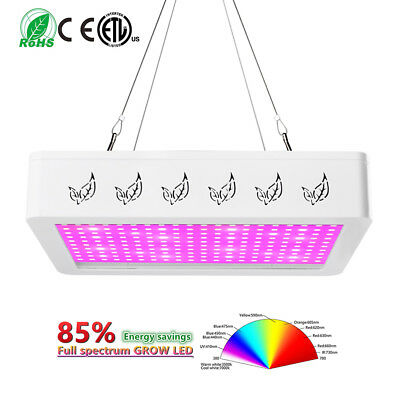 1000W 2000W LED Grow Light Hydro Full Spectrum Veg Indoor Plant Lamp Panel Bloom