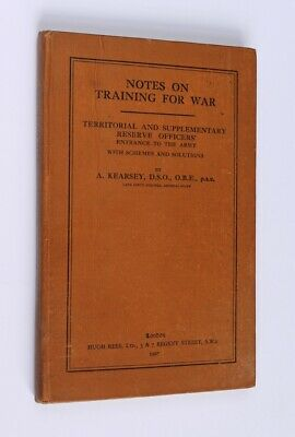 Training for War 1927 Territorial & Supplementary Reserve Officers Army Entrance