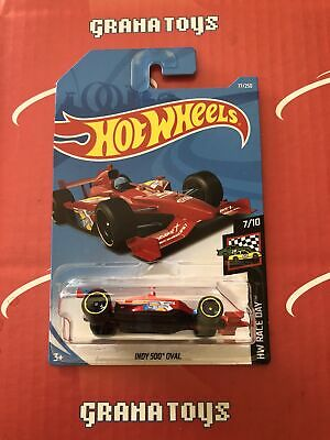 Indy 500 Oval #77 Red Race Day  2019 Hot Wheels Case J
