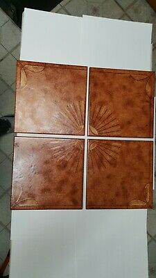 Lot Of 9 Vintage Antique Ceramic Tiles Made In Italy