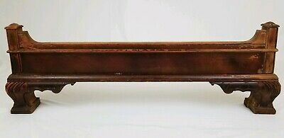 Antique architectural Salvage wood wooden furniture footboard mahogany Federal
