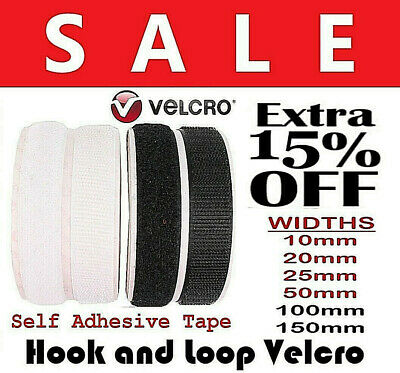 VELCRO® Genuine Brand PS14 Self Adhesive Stick on Tape HOOK & LOOP Sticky Strips