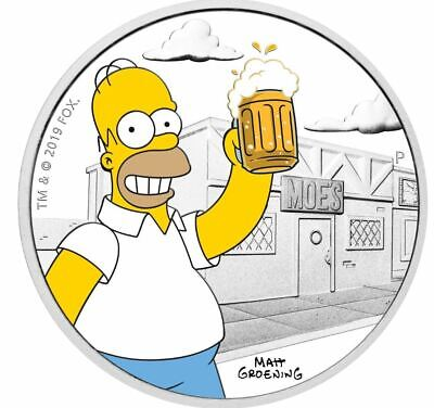2019 THE SIMPSONS HOMER 1oz Silver Proof Coin