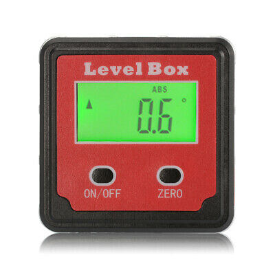 Digital Angle Gauge Bevel Box Inclinometer Protractor Level Finder w/ Bag BI734