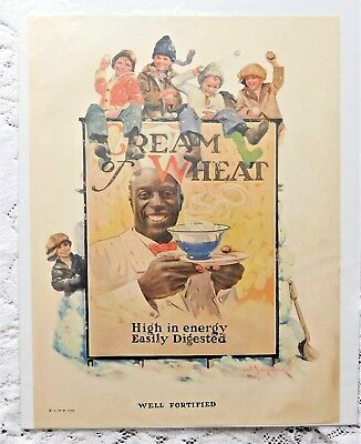 """Vintage 1923 Litho Advertisement - Cream Of Wheat - """"Well Fortified"""""""