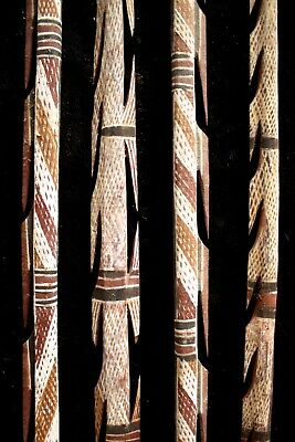Group of Four Full Length Aboriginal Spears - Groote Eylandt 1960's