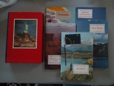 American Geographical Society Know America  5 Books ALASKA CANADA INDIANS UTAH +