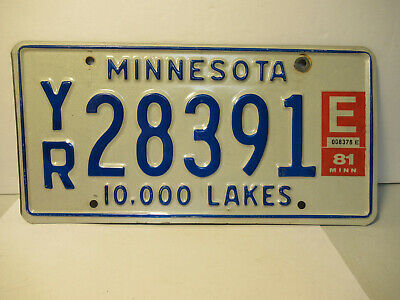 Minnesota License Plate Expired 1981 Tag Old Car Rat Rod FREE US SHIPPING