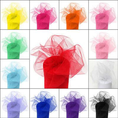 """6""""x100 Yards Tutu Tulle Roll Spool Gift Wrap Craft Bow Wedding Party Decoration"""