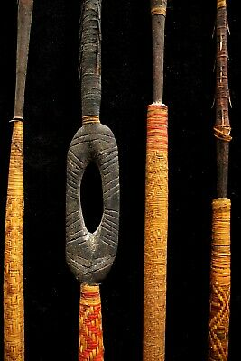 Group of Four Bougainville Spears - Northern Solomon Islands 1940's