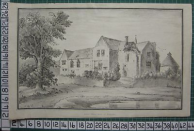 1803 Large Gloucestershire Print ~ Rodmarton Ancient Manor House