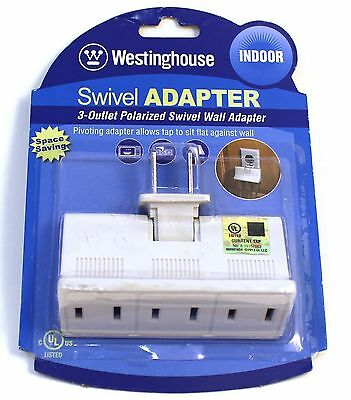 Westinghouse Giratorias Adaptador 3-OUTLET Polarizado Interior de Pared