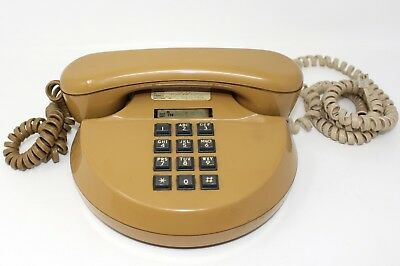 Vtge Mid Century Mustard Atomic Retro Northern Telecom Round Telephone Phone