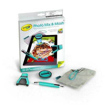 Crayola Photo Mix and Mash, App, Digital Pen,Stamper & Morphing Tool + Pouch NR