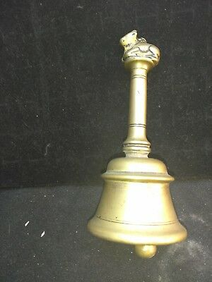18th C old antique bronze altar bell, from Nandi, India, 6.2 inches tall!