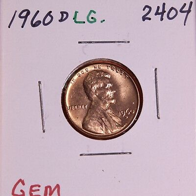 1960 D Large Date  Lincoln Memorial Cent #2404, Gem Bu-Free Shipping!