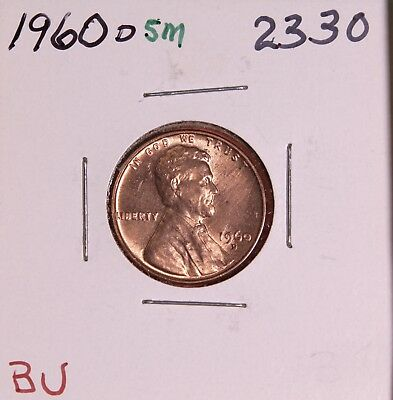 1960 D Small Date Memorial Cent #2330, Bu-Free Shipping!