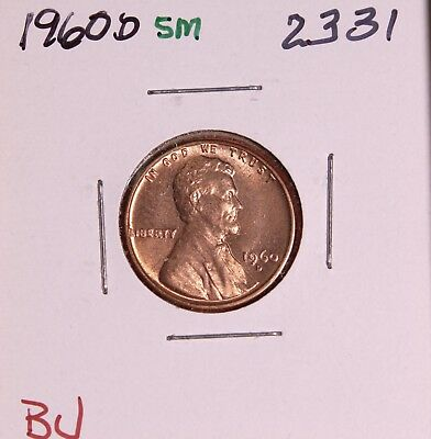 1960 D Small Date Memorial Cent #2331, Bu-Free Shipping!