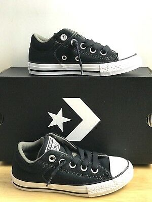 e7128d8e810f Converse Chuck Taylor CT High Street Slip All Star Black Junior Kids Shoes  Sz 12
