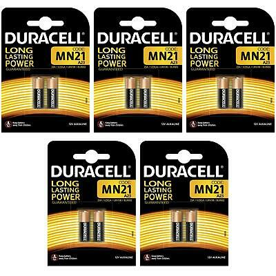 10x Duracell MN21 A23 12V Alkaline Battery Single-Use 23A LRV08 23a V23GA 8LR932