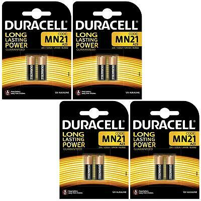 8 x Duracell MN21 A23 12V Alkaline Battery Single-Use 23A LRV08 23a V23GA 8LR932